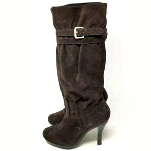 Michael Kors Kincade Brown Suede Slouch Boots 9M